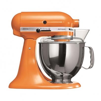 همزن ۴.۸ لیتری کیچن اید با محافظ ضد پاشش همزن کیچن اید رنگ نارنجی 5KSM150PSETG