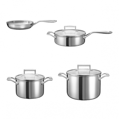 ظروف پخت و پز ست استیل 3 لایه