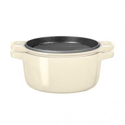 ظروف پخت و پز قابلمه چدنی کرم 28 سانتی متر